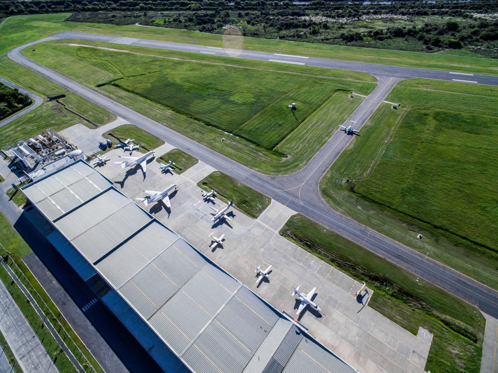 Ariel view of Hangar Uno