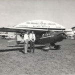Vintage Piper Aircraft in front of a Des Moines