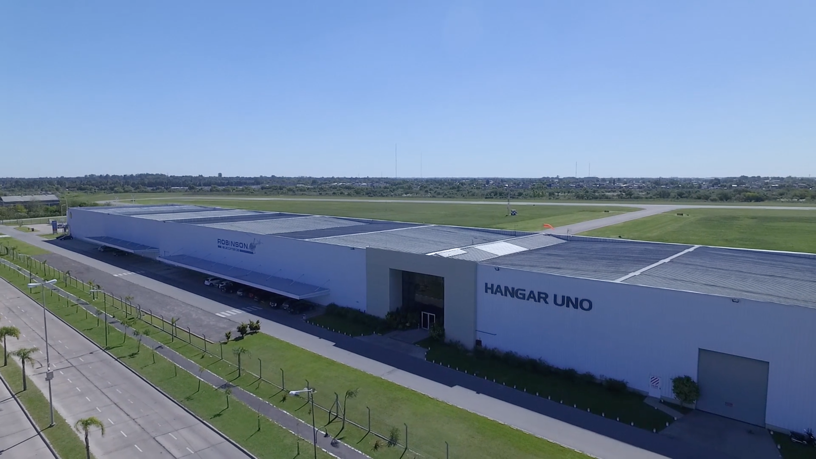 Ariel view of the Hangar Uno facility