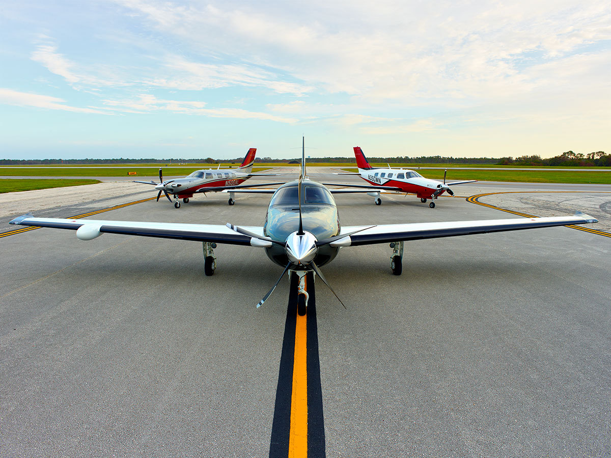 Piper Aircraft on the runway