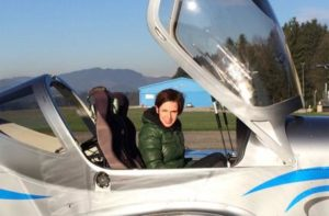 URŠKA KUŽNER in an aircraft