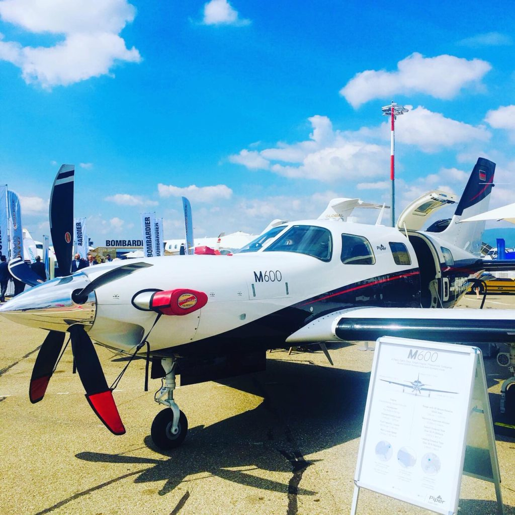 Piper M600 aircraft at a tradeshow event