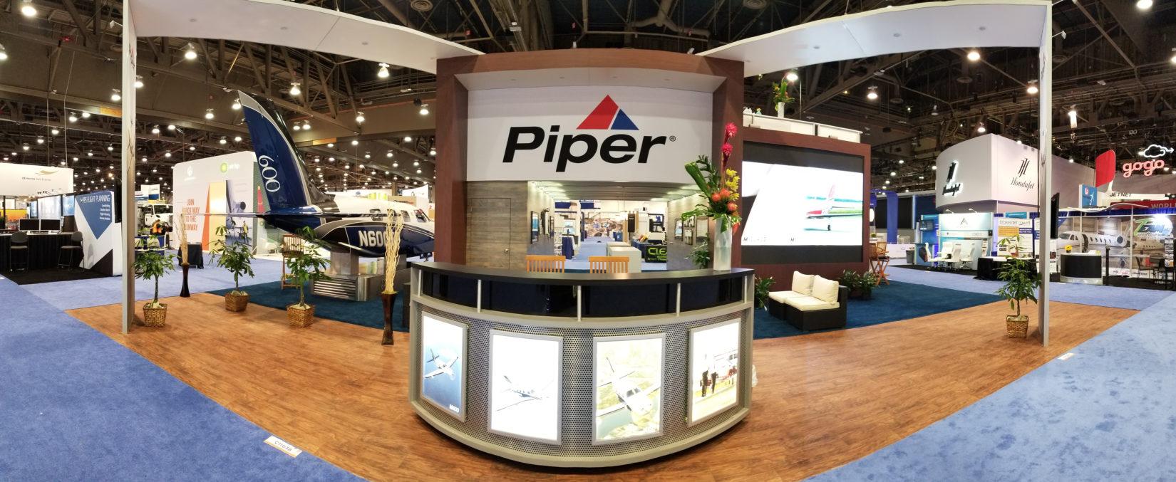 Piper Aircraft booth at a tradeshow