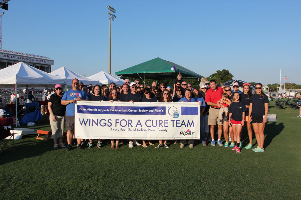 "Piper Aircraft's ""Wings for a Cure"" Team in Indian River County"