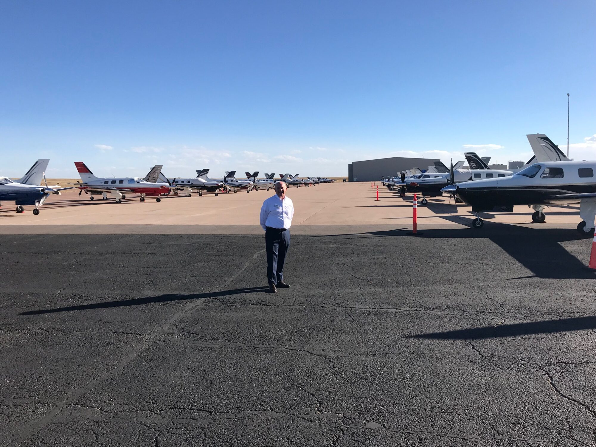Simon Caldecott on the flight line at MMOPA