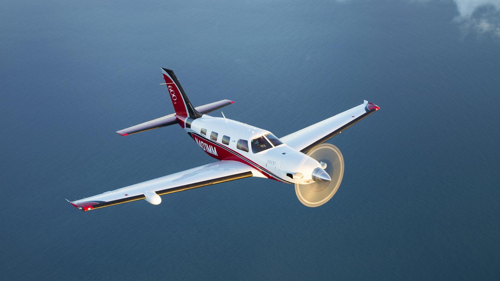 M600 flying over the ocean