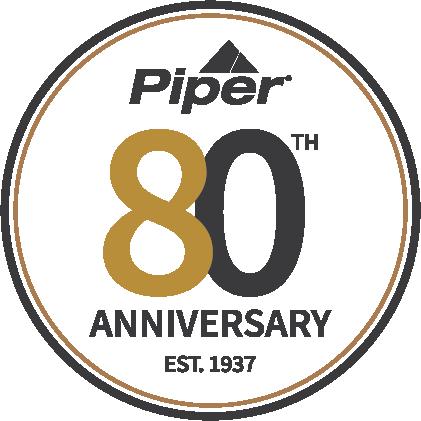 Piper 80th Anniversary Logo